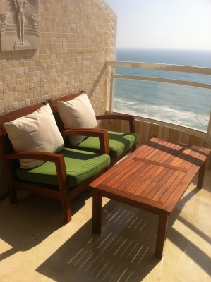 Netanya Apartments - SeaView luxury dream penth  center, Netanya - relaxing balcony