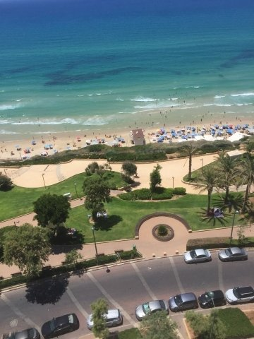 Netanya Apartments - SeaView luxury dream penth  center, Netanya - view from balconyour