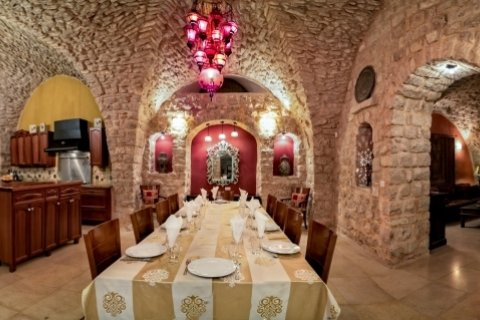 Safed Apartments - Villa Tiferet Luxury Home Safed - Elegant dining room seats 16