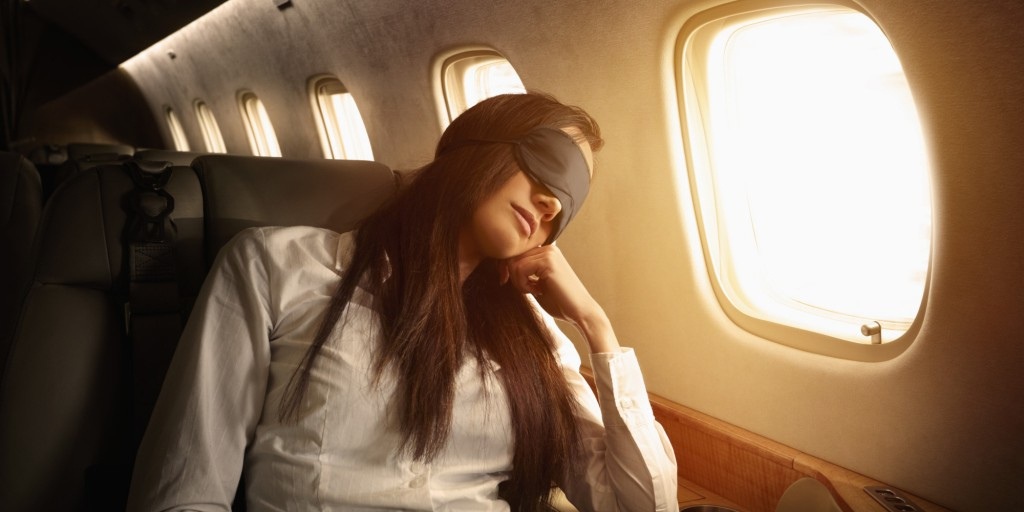 Snoozing mid-flight is easier than you think...